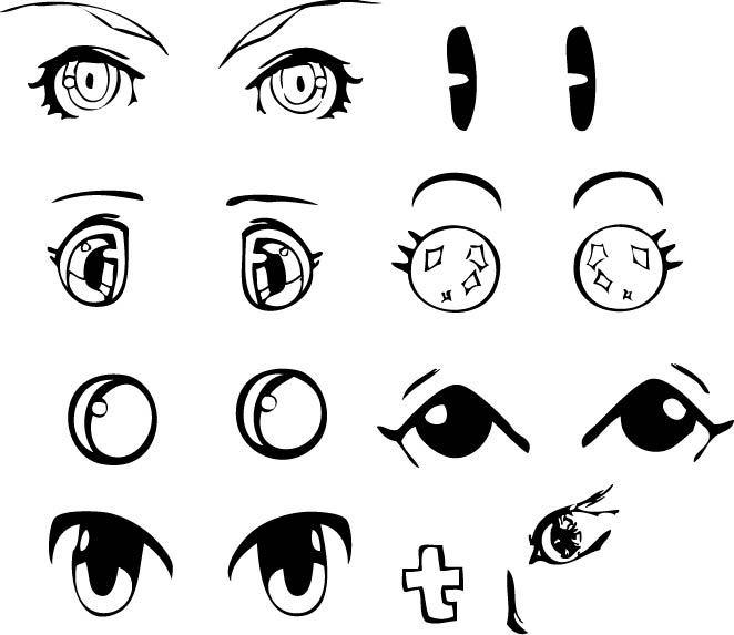 也有q版人物的眼睛