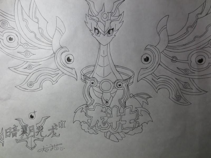 龙猫手绘图片线条